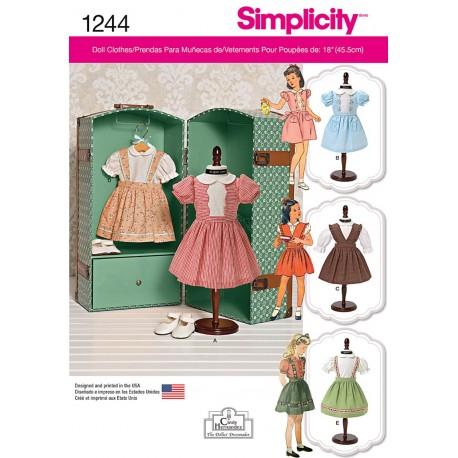 Dukkekjoler til 45,5 cm dukke Simplicity snitmønster 1244