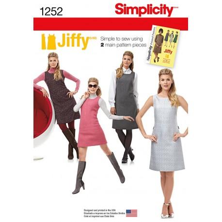 Spencer 2 varianter Simplicity snitmønster 1252