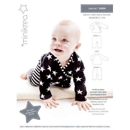 Babysæt minikrea snitmønster 10404
