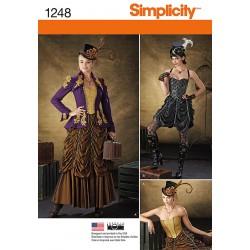Voksen kostume jakke, nederdel og corsage snitmønster