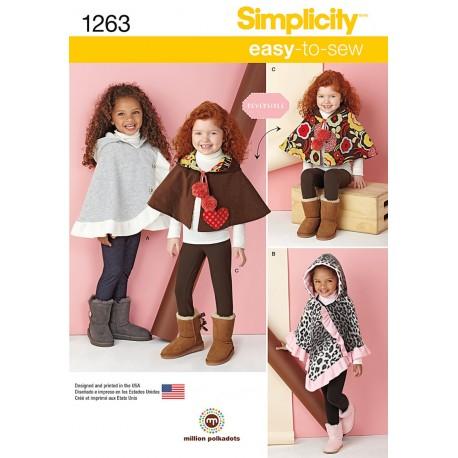 Vendbar slag pige Simplicity snitmønster 1263