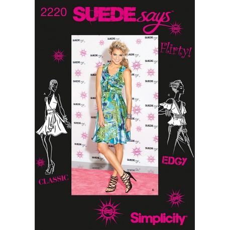 Kjole og bluse Simplicity snitmønster 2220