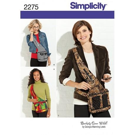 Skuldertaske Simplicity snitmønster 2275