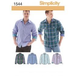 Herreskjorte 4 varianter snitmønster