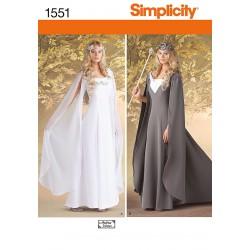 Middelalderkjole, kostume simplicity snitmønster