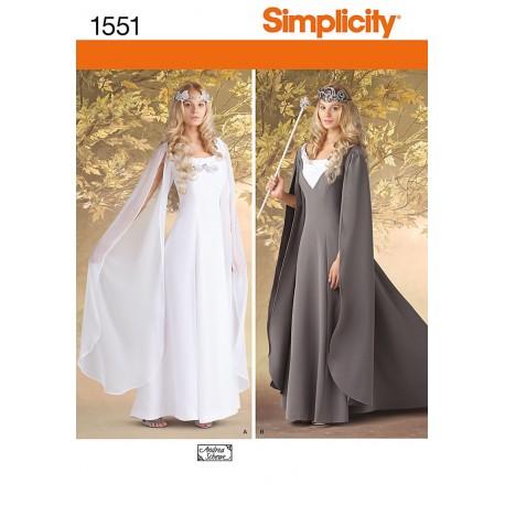 Middelalderkjole, kostume simplicity snitmønster 1551