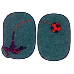 Lapper med forboldspiller 11x8 cm Strygelapper
