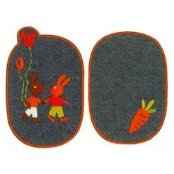 Strygelapper med Kanin og gulerod 11x8 cm