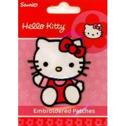 Hello Kitty med Sløjfe 6,5x4,5 cm Strygemærke