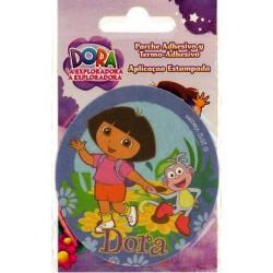 Dora m/Abe Ø 7,5 cm PRINTET strygemærke