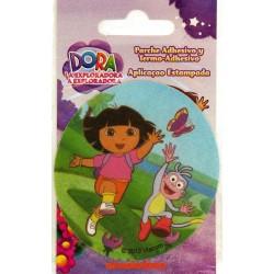 Dora m/sommerfugl Ø 7,5 cm PRINTER strygemærke