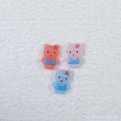Knap m/øje Hello Kitty ca.22mm høj