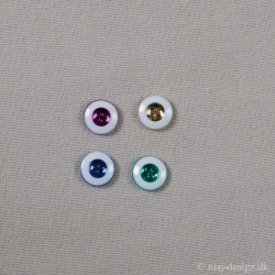 Knap 4-hul 13mm 4 farver