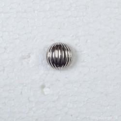 """Knap m/Øje """"Bombe"""" 18 mm Sølv"""