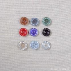 Knap m/Glimmer 13mm 8 farver