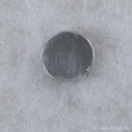 Knap med øje Grå mmed sølv kant 25mm