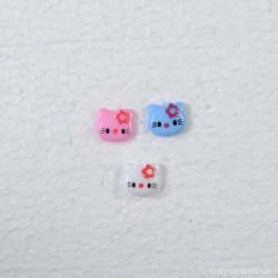 Hello Kitty knap m/øje 15mm