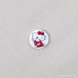 Hello Kitty Perlemor Hvid 18mm