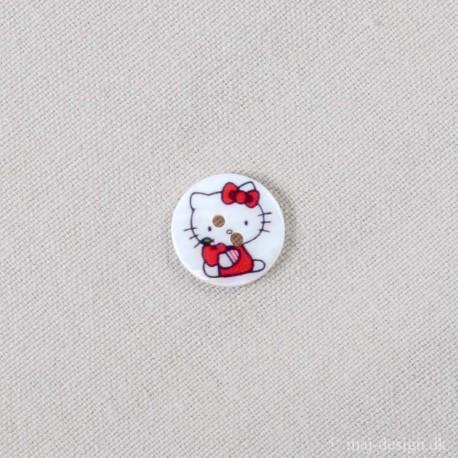 Hello Kitty Perlemor Hvid 18mm