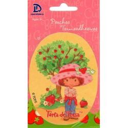 Jordbær Marie PRINTET strygemærke 11x8 cm