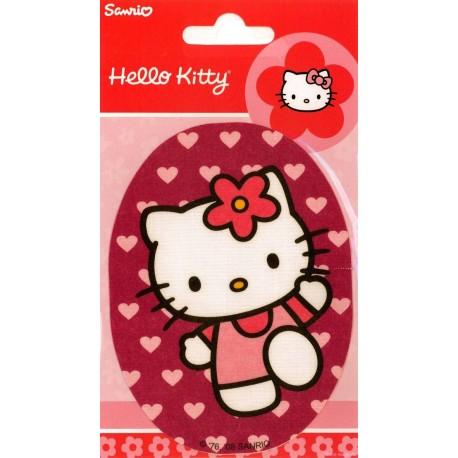Hello Kitty PRINTET strygemærke 11x8 cm