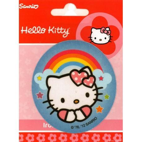 Hello Kitty med regnbue PRINTET strygelap