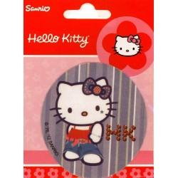 Hello Kitty med blå sløjfe PRINTET strygemærke