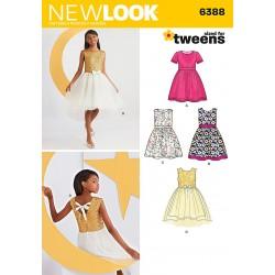 Kjole 4 varianter New look snitmønster