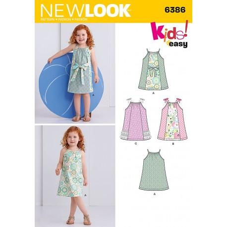 85d37f35277 Pige kjole New look snitmønster easy 6386