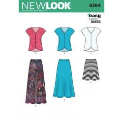 Bluse, nederdel og bukser new look snitmønster easy 6384