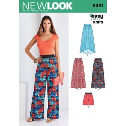 Bukser, nederdel og shorts new look snitmønster easy 6381
