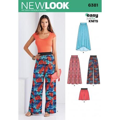 Bukser, nederdel og shorts new look snitmønster easy 6381