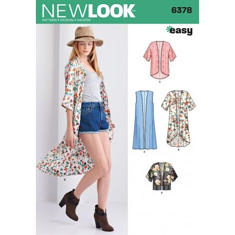 Kimono/vest New look snitmønster easy 6378