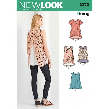Bluse/tunika New look snitmønster easy 6376