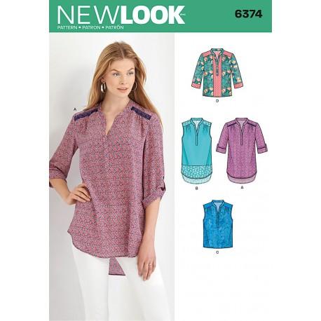 Storskjorte New look snitmønster 6374