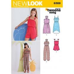 Dragt m/halterneck og kjole new look snitmønster 6389