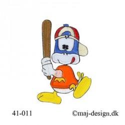 Baseball spiller strygemærke