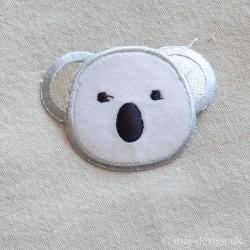 Lysegrå Koalabjørn strygemærke