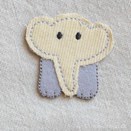 Grå Elefant strygemærke