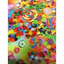 Slik i glade farver Økotex Digetal Print 140 cm bred