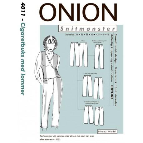 Cigaretbuks med lommer Onion snitmønster 4011