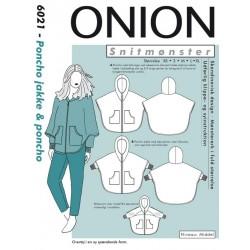 Poncho jakke og Poncho Onion snitmønster