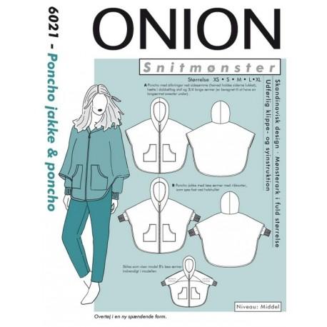 Poncho jakke og Poncho Onion snitmønster 6021