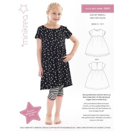 Kjole med Ærme Minikrea snitmønster 50011