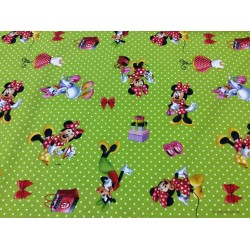 Minnie Limfarvet bund Digital print 140 cm bred