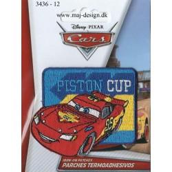 Cars broderet strygemærke Piston Cup