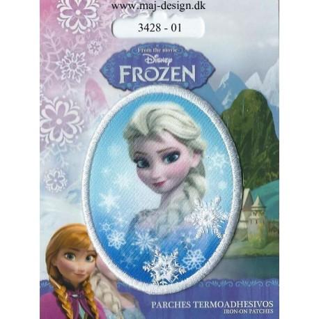 Elsa Oval Broderet strygemærker 7,5x6 cm