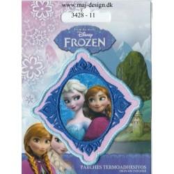 Anna & Elsa Broderet strygemærke 7,5x7,5 cm