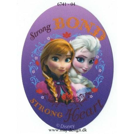 Anna & Elsa Printet strygelapper 11x8 cm