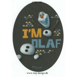 Olaf Printet strygelap oval 11x8 cm